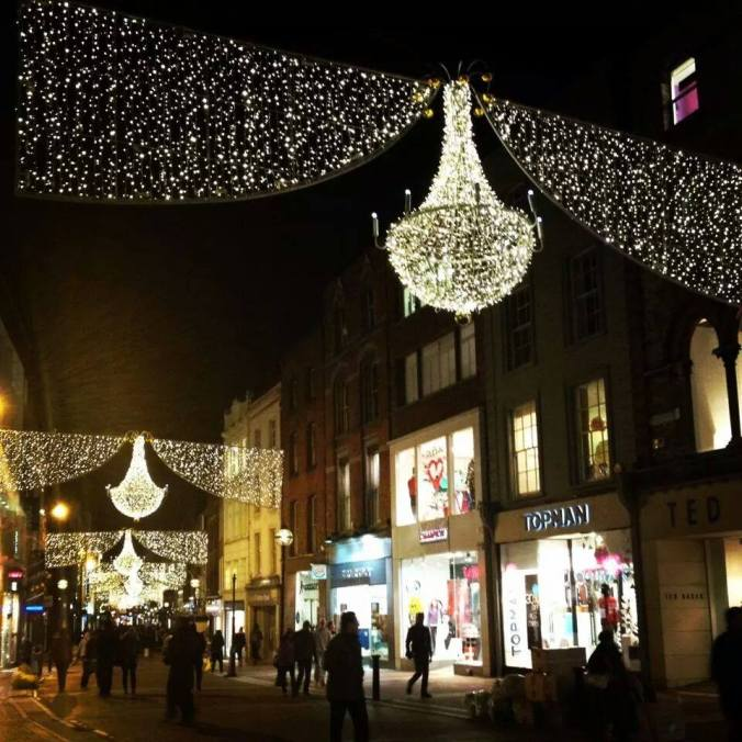 Grafton Street Christmas Lights Dublin
