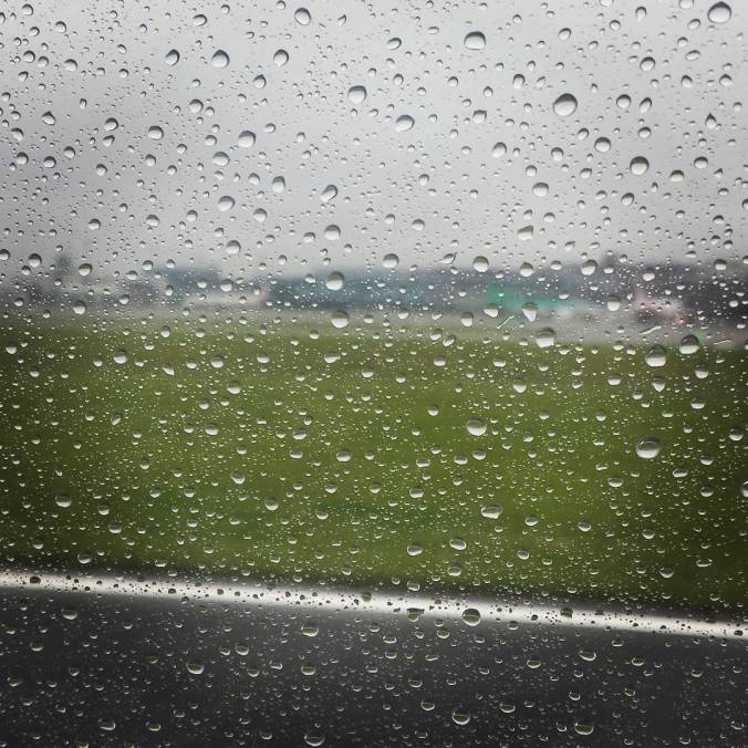 Dublin Aer Lingus rainy day on the runway