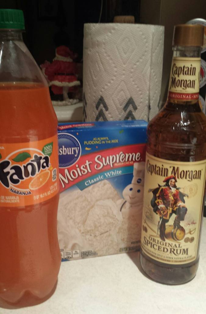 Fanta Spiced Rum Cupcake Ingredients